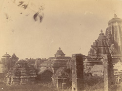 View from the north-east of the left half of the Rajalinga Temple, Bhubaneshwar